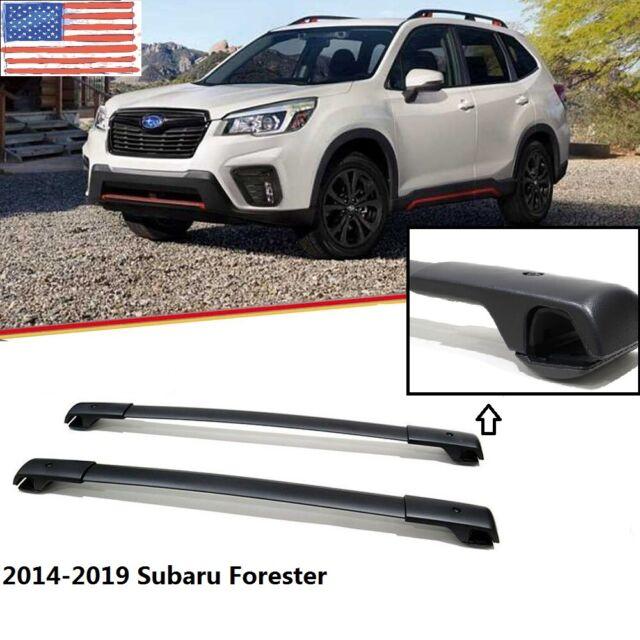 For 2014-2018 Subaru Forester Aluminum Black Car Roof Top Cross Bars Cargo Rack