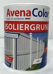 €12/L Avena Isoliergrund weiß 1 Liter wetterfest innen & außen für alle Hölzer