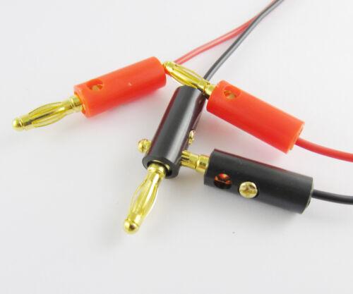 10 Ensembles 4 mm or Plug pour or 4 mm Fiche banane prise double Banana TEST CABLE 1M//3Ft