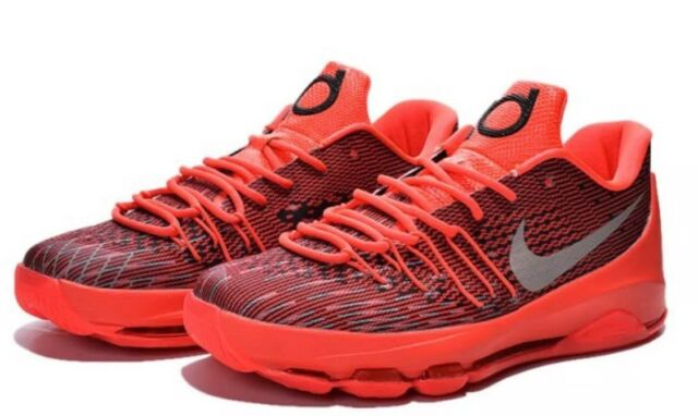 5fb9a00282e Nike KD 8 Bright Crimson Mens 749375-610 Red Durant Basketball Shoes Size 9