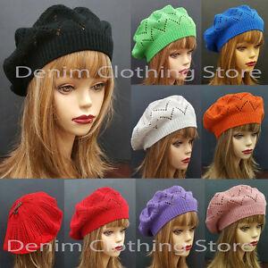 a85b3212b Details about Women's Summer Spring Winter Crochet Knit Slouchy Beanie  Beret Cap Hat One Size