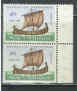 Portugal-Mozambique-1963-Ships-block-of-2-10c-MNH-OG
