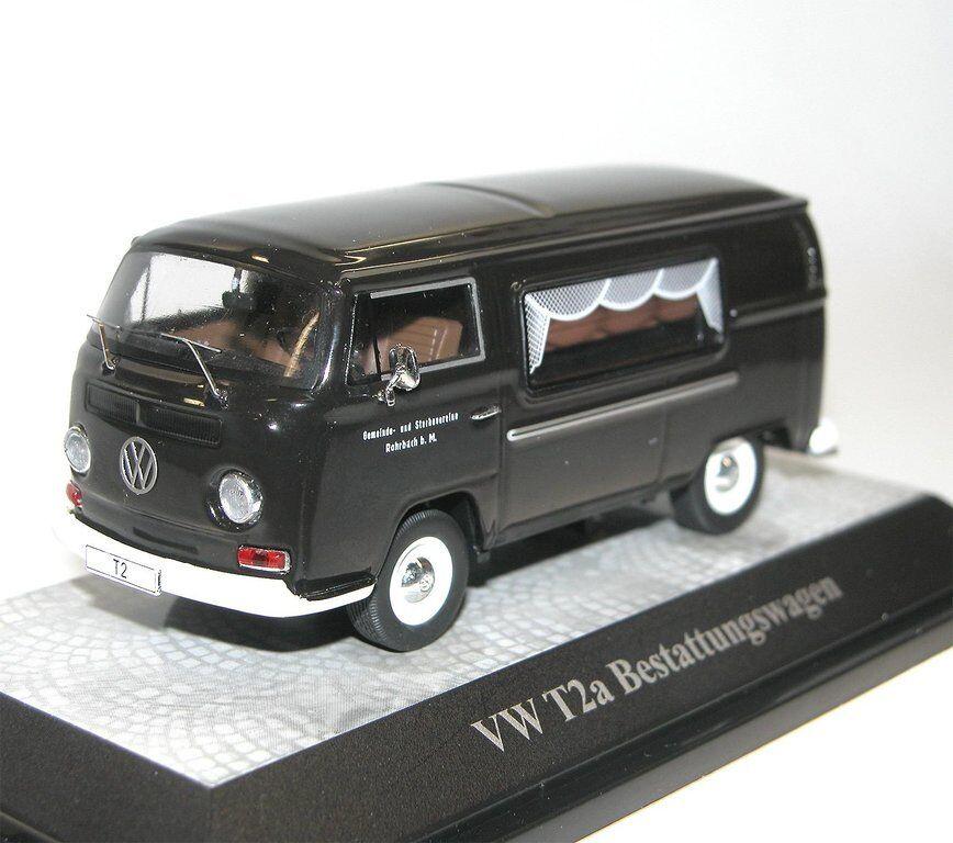Premium classixxs, vw t2a Besteattungswagen, coche fúnebre Hearse, negro, 1 43