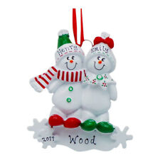 Personalised Christmas Tree Decoration Ornament Snow Sled Family 2 For Sale Online Ebay