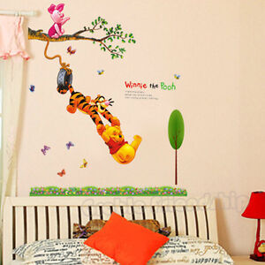 winnie the pooh removable wall sticker decal for nursery baby kid art room decor ebay. Black Bedroom Furniture Sets. Home Design Ideas