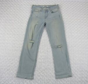 edae08db Zara Basic Z1975 Denim Blue Wash Ripped Distressed Jeans Pants Size ...
