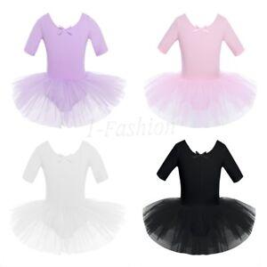 Girls-Ballet-Dance-Tutu-Dress-Gymnastics-Leotard-Toddler-Ballerina-Dancewear