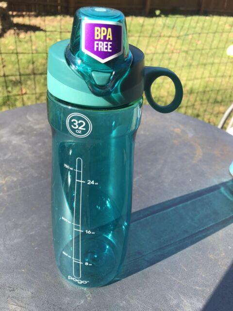 Blue 14907042 for sale online PoGo Tritan Plastic Water Bottle 32oz Chug Lid