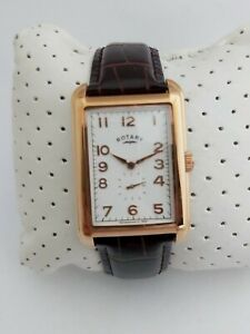 ROTARY-MENS-PORTLAND-WATCH-GS02699-01-GOLD-STAINLESS-STEEL-BROWN-LEATHER-GENUINE