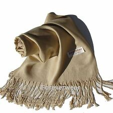 Lady Women Blanket Oversized Scarf Wrap Shawl Cozy Solid Pashmina/Cashmere/Wool