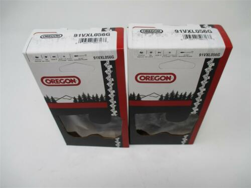 """2 Two 16"""" 91VXL056G Oregon Chainsaw Blades 3//8"""" Low Profile 56 Drive Links"""