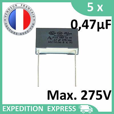 CONDENSATEUR TYPE X2 470 nF 250 V ERO POUR TENSION SECTEUR ALTERNATIF