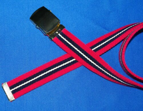 Red and Blue 30mm Big Canvas Webbing Belt Clip on Buckle large xl xxl H7
