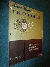 1949 1971 Chevrolet Car Amp Truck Radio Parts Book Original Catalog Camaro Nova