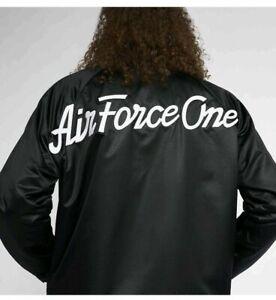 NIKE AIR JORDAN He Got Game Retro Satin Varsity Jacket Black