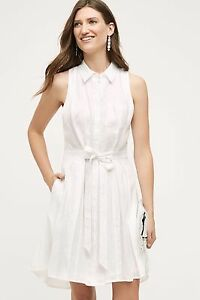 a83ac117be6 Image is loading 148-Anthropologie-Printemps-Linen-Shirtdress-Dress-by-HD-