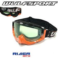 Wulfsport Adulto sombra MX Gafas Naranja Blanco Motocross Offroad antivaho de silicio