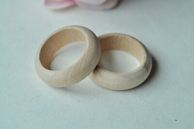 15pcs Round Wood Ring Unfinished Natural Wooden Handmade Accessory Craft 3MT10