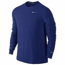 Nike Dry Contour Men's Long-Sleeve Running Top XL  DRI-FIT 849954-455 Blue