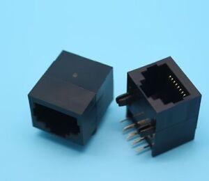 10PCS RJ45 8P8C Jack Modules PCB Mount Network Internet Connectors ...