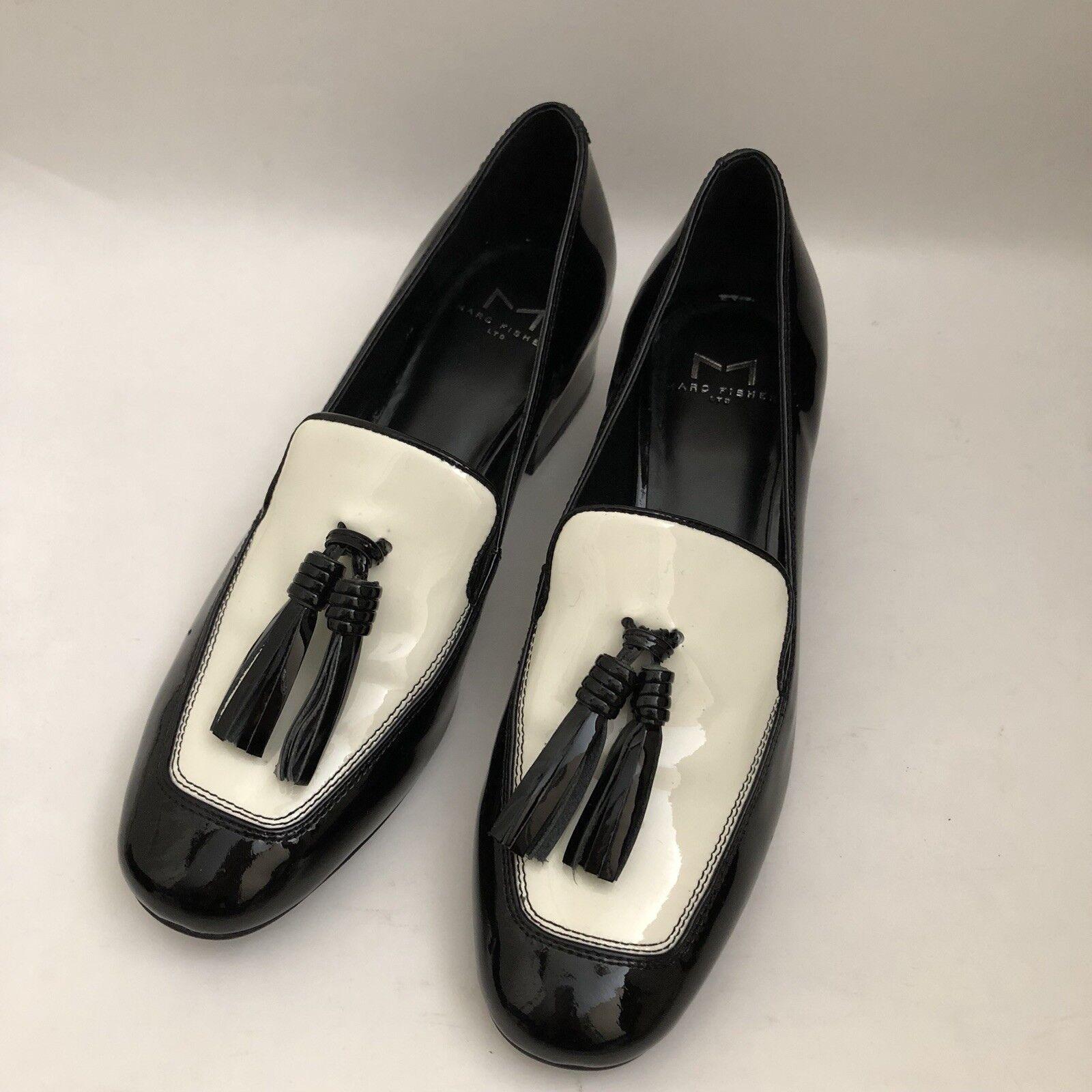 Marc Marc Marc Fisher Ltd Women's 6.5 M US Keisha Tuxedo Slip On, Black White, Retail  125 1e865b
