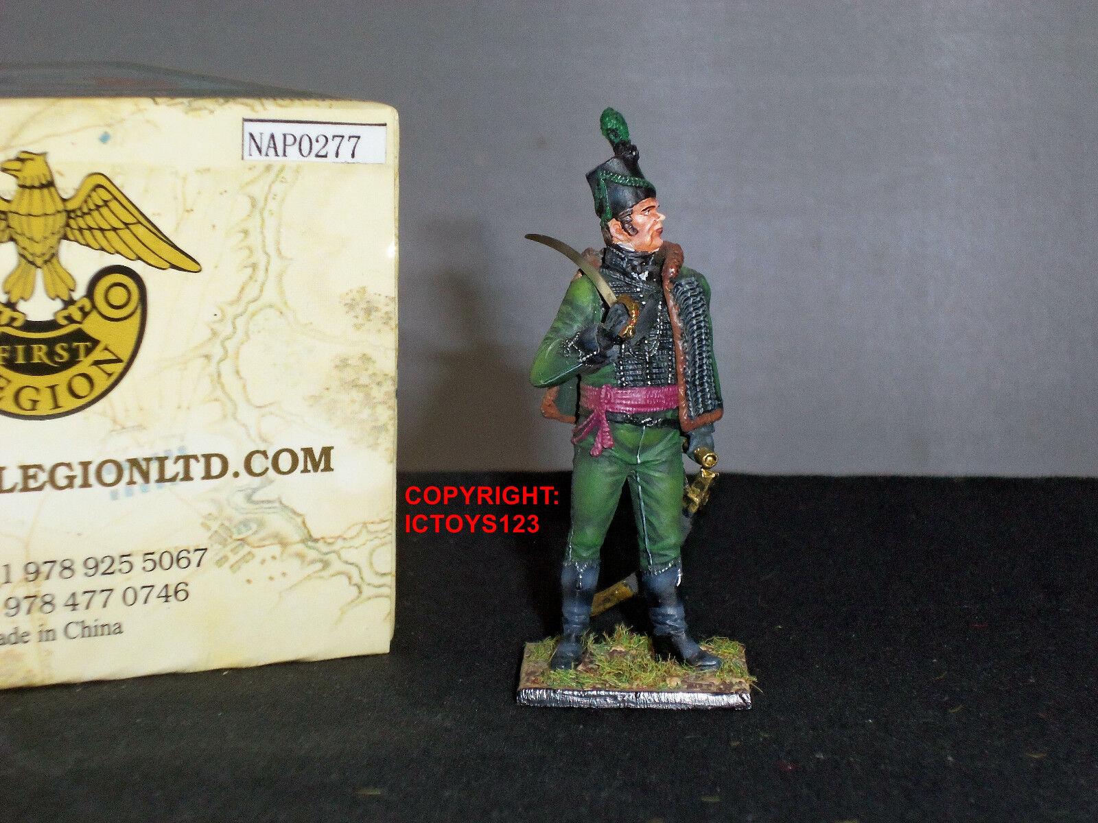 FIRST LEGION NAP0277 BRITISH 95TH RIFLES MAJOR METAL TOY SOLDIER FIGURE