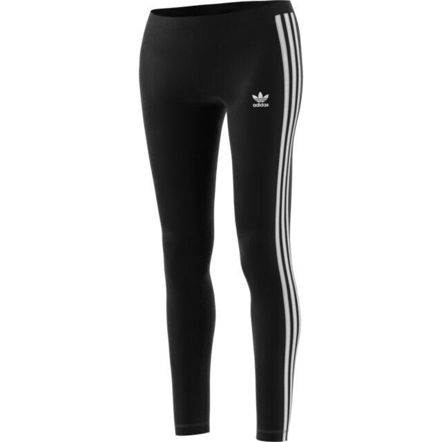 adidas Originals 3 Stripes Leggings Damen Grün | eBay