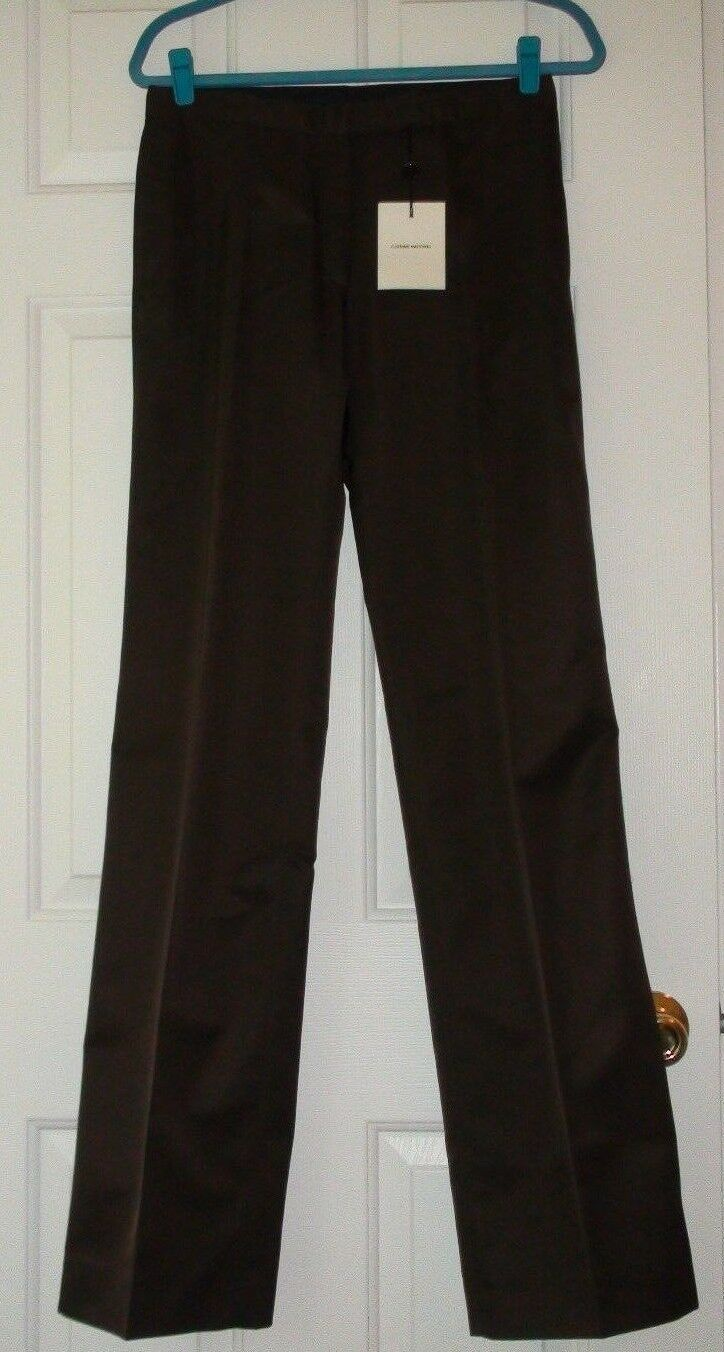 NEW COSTUME NATIONAL BROWN  PANTS sz. US 6 MADE IN ITALY