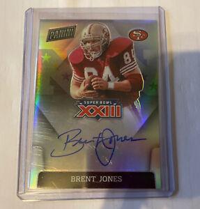 2021 Panini Score Brent Jones Super Bowl XXXIII Auto autograph