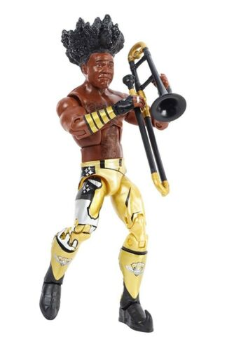 XAVIER WOODS NEW DAY BOOTY O/'s WWE ACTION ELITE FIGURE w// TROMBONE FROM 3pk 2016