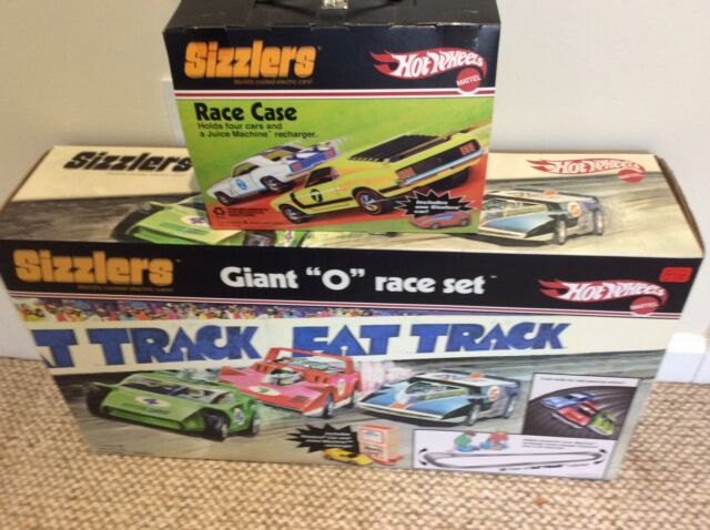 Hot Wheels Sizzlers Giant O Fat Track Race Set New In Sealed Box W Bonus Race Ca