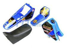 Yamaha PW80 PW COYOTE 80 TANK SEAT PLASTIC + ROCKSTAR GRAPHIC KIT BLUE U DE51+
