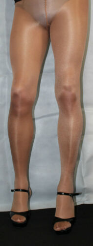 American Tan 80 Denier High Quality Small Size Fabulous Shimmer Effect Tights