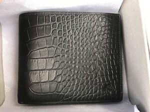 Mens genuine mulberry crocodile print wallet card holder black ebay image is loading men 039 s genuine mulberry crocodile print wallet reheart Gallery