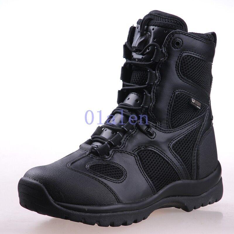 botas de travesía para hombre Militar Fuerzas Especiales tácticas de combate Alta Top de Superdry caliente