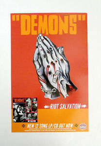 Demons-Riot-Salvation-Promo-Poster-Theo-Mindell-Praying-Hands-Tattoo-Gearhead