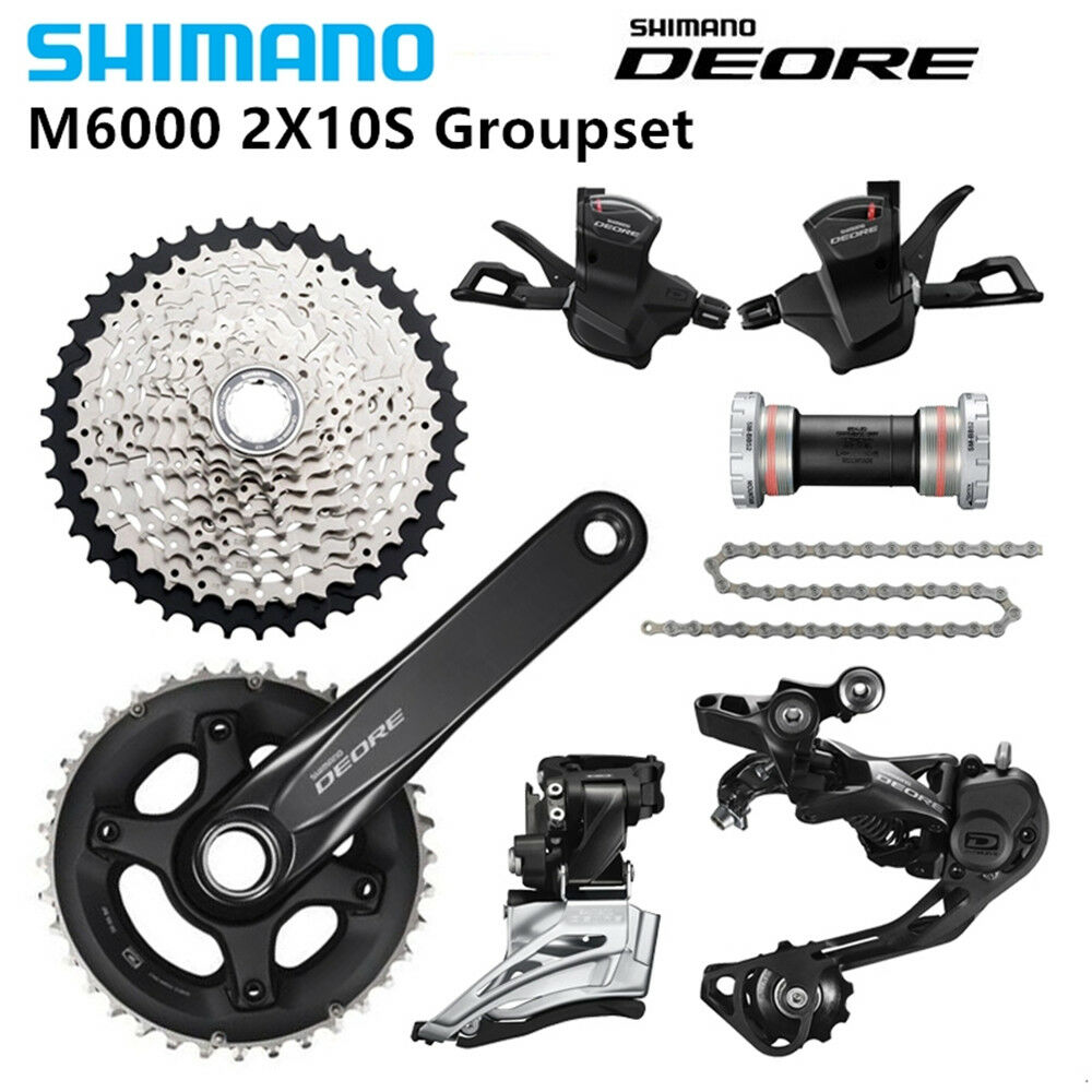 SHIMANO DEORE M6000 2x10s 170X28 38T Speed 11-42T MTB  Bike Bicycle Groupset