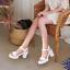 Womens Ankle Strap Platform Slingback Beach Sandals Block Heel Peeo Toe Shoes GS
