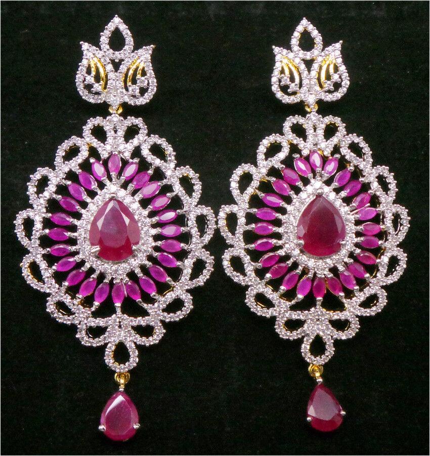 Stunning Marvellous Classic Ruby Earrings Set 46E M1  29 19