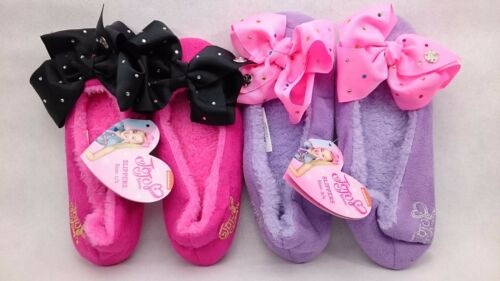 JoJo Siwa Ballerina Bow Slippers Pink Purple