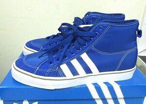 28b1e472f8dd8f adidas Originals mens nizza Hi in Blue