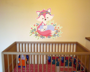Wandtattoo Fuchs Kind Und Mutter Baby Tiere Kinderzimmer