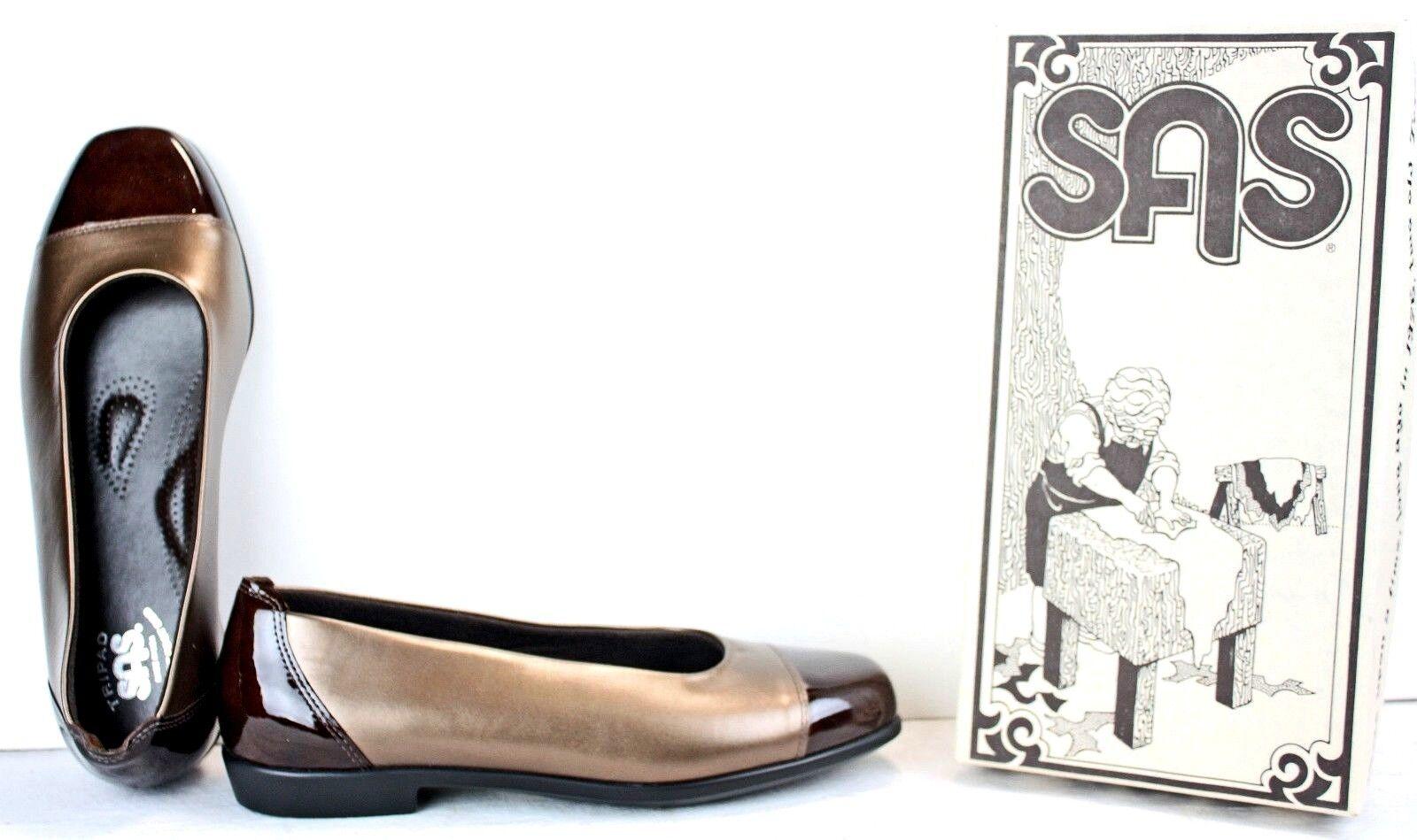 SAS Tripad Comfort Damenschuhe Loafers Größe 9.5 W Bronze Braun Leder MO27 FW76