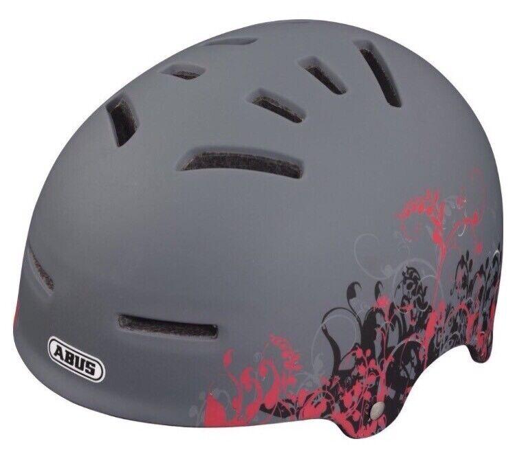 ABUS Fahrradhelm Aven-U Größe L, Asphalt Asphalt Asphalt Flowers Design f7a4bd