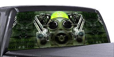 -GREEN BIOHAZARD VuScapes Truck Rear Window Graphic 4 SIZES AVIAL