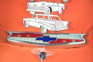 1955 Chevy Chrome Trunk Emblem USA Made  Belair Sedan Hardtop Wagon Convertible