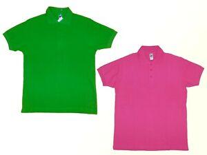 Poloshirt-Polohemd-Damen-T-Shirt-Gr-S-Baumwolle-Farbe-waehlbar-NEU