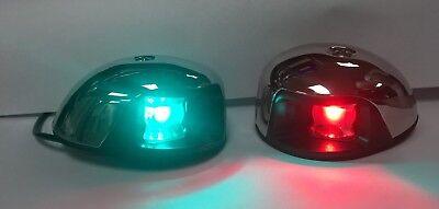 Marine Boat 12V Red LED Navigation Side Marker Light Watertight 1NM Visibility