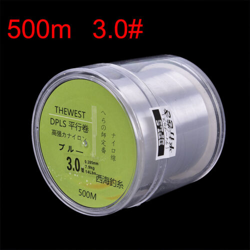 500M Fluorocarbon fishing line 5-30LB Super Main Line clear fly fishing line BB