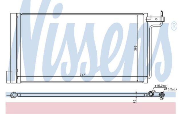 NISSENS Condensador, aire acondicionado FORD FOCUS C-MAX 940181